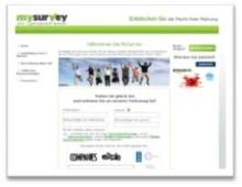 MySurvey Panel Screenshot