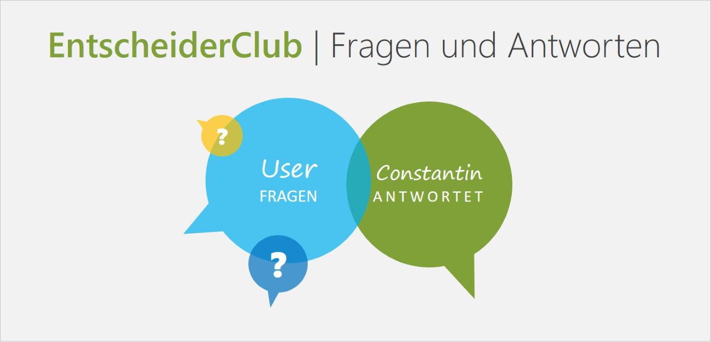 EntscheiderClub | Fragen und Antworte