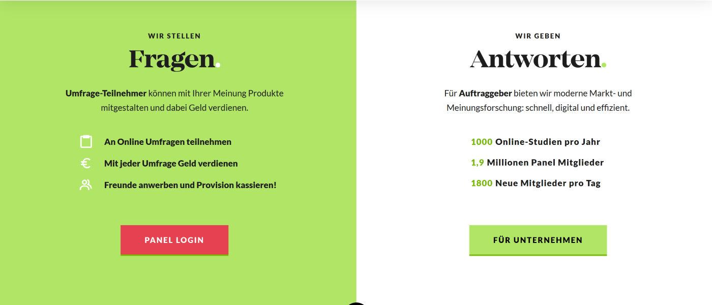 Marketagent Screenshot - Wir stellen Fragen. Umfrage-Teilnehmer können mit Ihrer Meinung Produkte mitgestalten und dabei Geld verdienen.