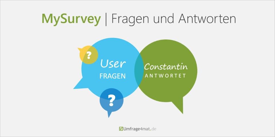 Mysurvey | User Fragen - Constantin Antwortet